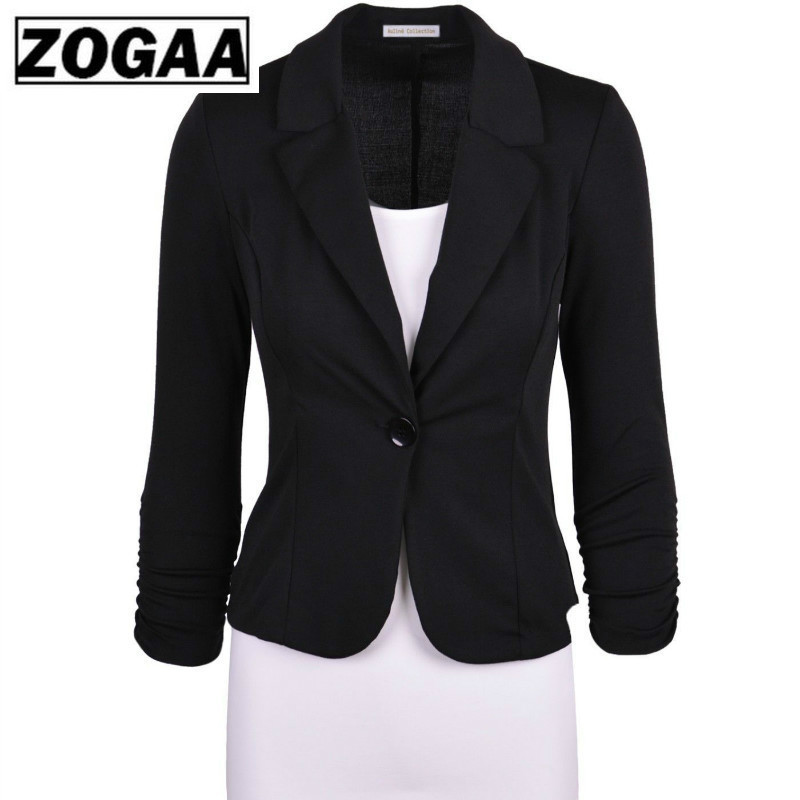 ZOGGA Small Suit 2019 New European And American Slim One Button Suit Jacket European And American Women's Suits