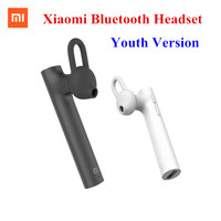 Original Xiaomi Bluetooth Headset Bluetooth 4 1 Xiaomi Mi Earphone Youth Edition Built In Microphone Handsfree