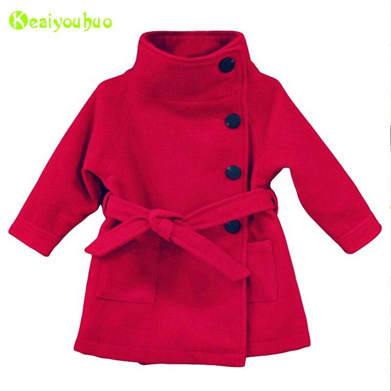 Infant Girls Jacket 2018 Autumn Winter Jackets For Girls Wool Coat Kids Warm Outerwear Coat For Girls Clothes Children Jacket