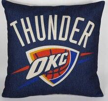 Donner kissenbezug, kreative basketball team logo Oklahoma City Thunder dekokissen fall kissenbezug großhandel