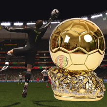 Mini Ballon d'Or Trophy 15cm Duplicate 2018 France Football Magazine Best Player Resin Gold Ball Cup Soccer Fans Souvenirs Gifts new best resin gold plating the golden football boot champions league award trophy cup soccer clubs fans souvenirs collectibles