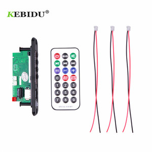 Image 4 - Kebidu Handsfree MP3 Speler Decoder Boord 5V 12V Bluetooth 5.0 6W Versterker Auto Fm Radio module Ondersteuning Fm Tf Usb Aux Recorders