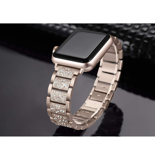 ASHEI Stainless Steel Band For Apple Watch 4 Bands 40mm 44mm Rhinestone Bling Bracelet For Apple Watch Strap 38mm 42mm Series 3 5