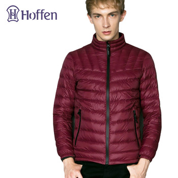 Hoffen 2017 New Winter 90% White Duck Down Coat Stand Collar Ultralight Down Jacket Slim Fit Thin Mens Outerwear Parkas WS314