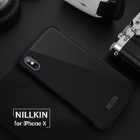 For IPhone X Tempered Glass Armor Case Nillkin 9H Hard Tempered Back Cover Case Built In