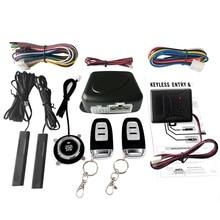 Car SUV Switch Keyless Entry Engine Start Alarm System Vibration Sensor Push Button Remote Starter Stop Auto Anti-theft