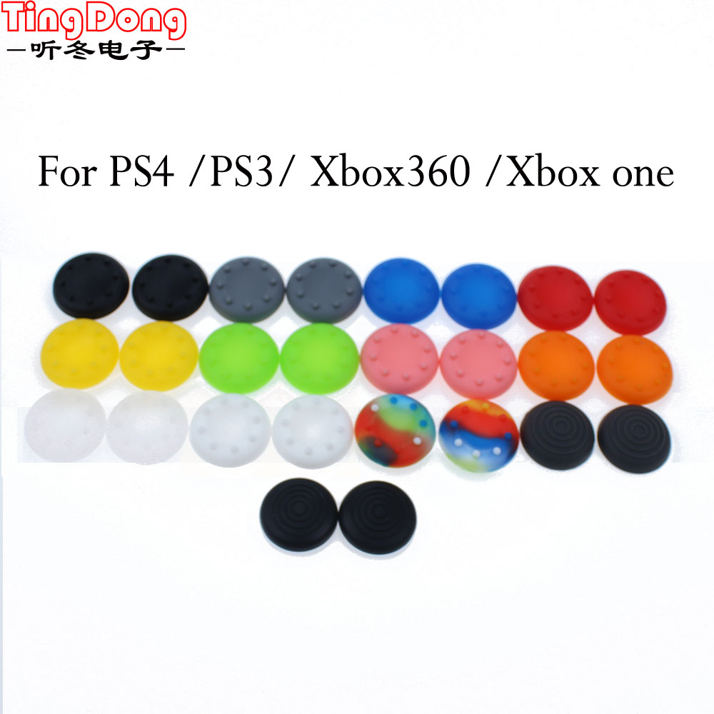 4PCS For XBOX 360 Rubber Silicone Analog Thumbsticks Grips Cover For Sony Dualshock 4 PS4 PS3 Controller Thumb Joystick Caps
