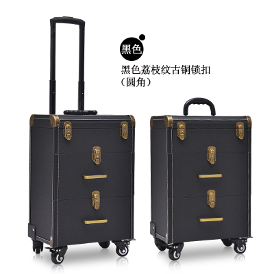 Portable Professional Trolley Cosmetic case Bag Suitcase For Makeup with wheels Large Capacity Women Box Nails Beauty Luggage 1