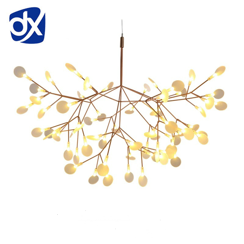 Creative Art Designer LED Chandelier Luxury Tree Leaf Modern Pendant Lamps Deco Chandeliers For Dining Room