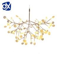 Creative Art Designer LED Chandelier Luxury Tree Leaf Modern Pendant Lamps Deco Chandeliers For Dining Room