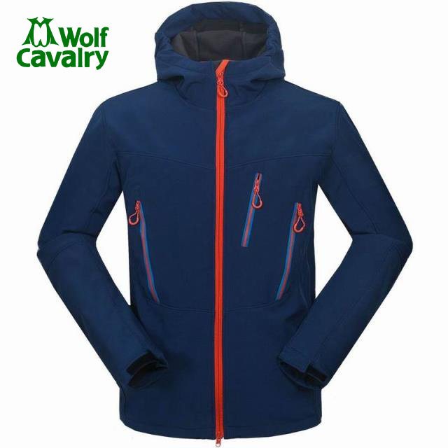 CavalryWolf Men Winter softshell Fleece jackets  outdoor waterproof Sportswear Coat Hiking Trekking  windbreaker heated jackets тапочки de fonseca de fonseca de016awynj42