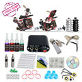 Complete Tattoo Kit  2  Machine Guns  Inks   Needles Tattoo Power Supply  D1026