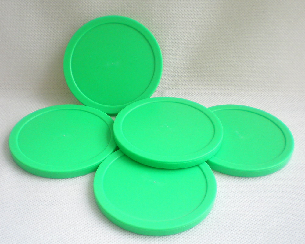 Free shipping 10pcs/lot green Air hockey table pusher puck 82mm 3.25
