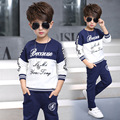 Children Clothing Sets For Boys Outfits Floral Print Sports Suits Cotton Letter Teenage Kids Tracksuits 4-14Y