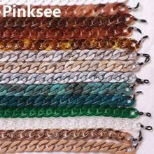 Модные Акриловые Очки для чтения, подвесная цепочка для очков на шею, 21 цвет, цепочка для очков, ремешок для очков, летний