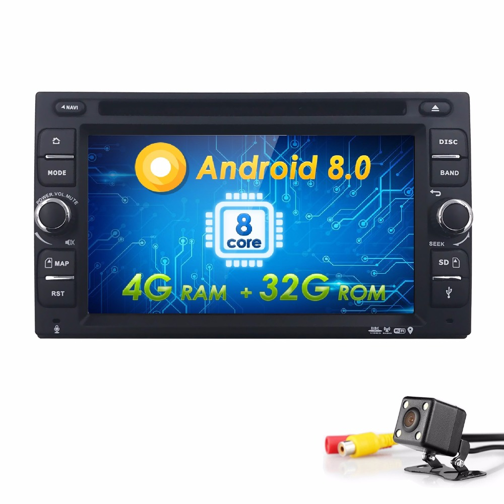 8/OctaCore 6.22Din Android8.0 Car DVD Radio Multimedia Player Universal GPS Navigation autoradio Stereo Audio SWC BT CAM 4G+32G