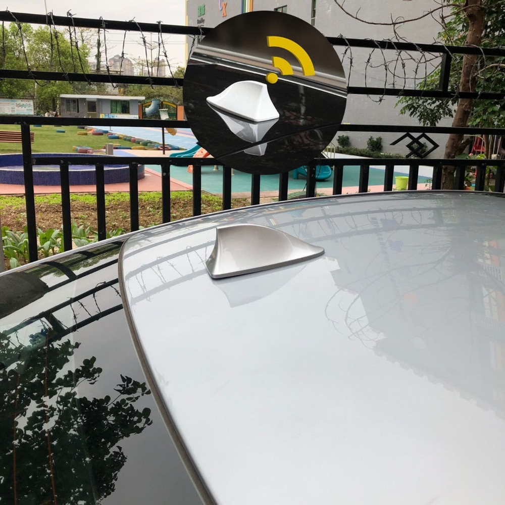 NEW CHROME ROOF ANTENNA RADIO AERIAL COVER SHARK FIN FOR JAGUAR X XF XJ TYPE