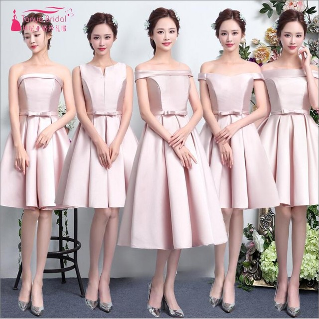 Cheap Price Pink Bridesmaid Dresses Hot High Quality Bridesmaid Dress Sleeveless Ever Pretty A Line Vestido de fiesta