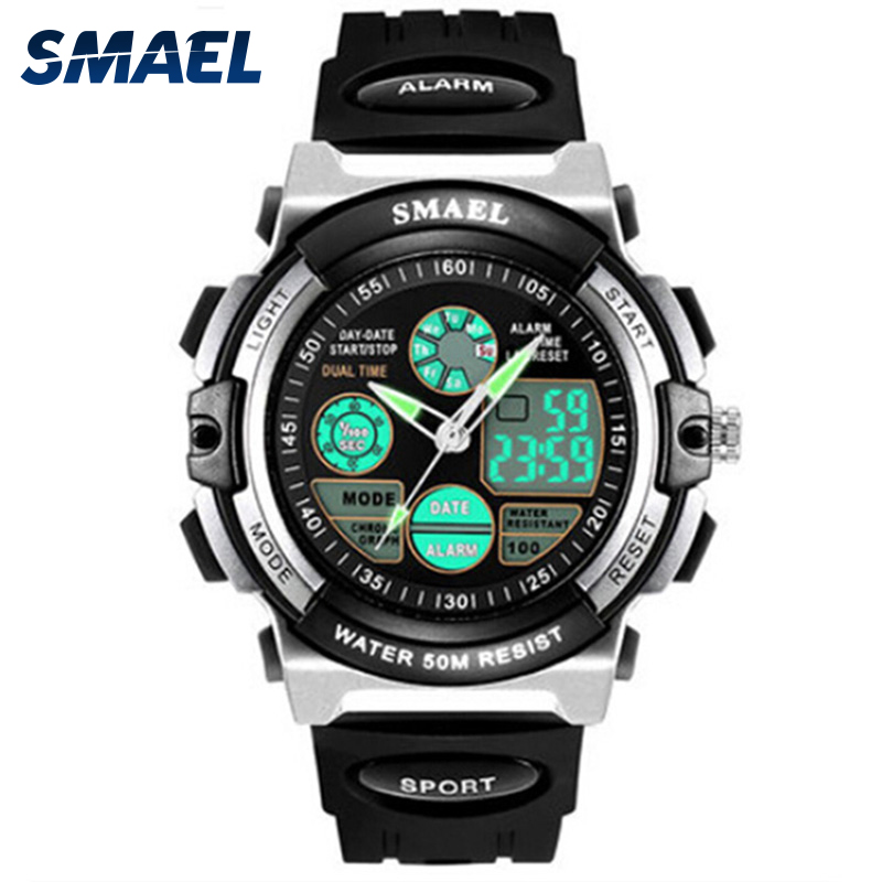 New SMAEL Children Watches Sport Waterproof Shock Resistant LED Display Digital WS0508A Watch for Boys Cartoon