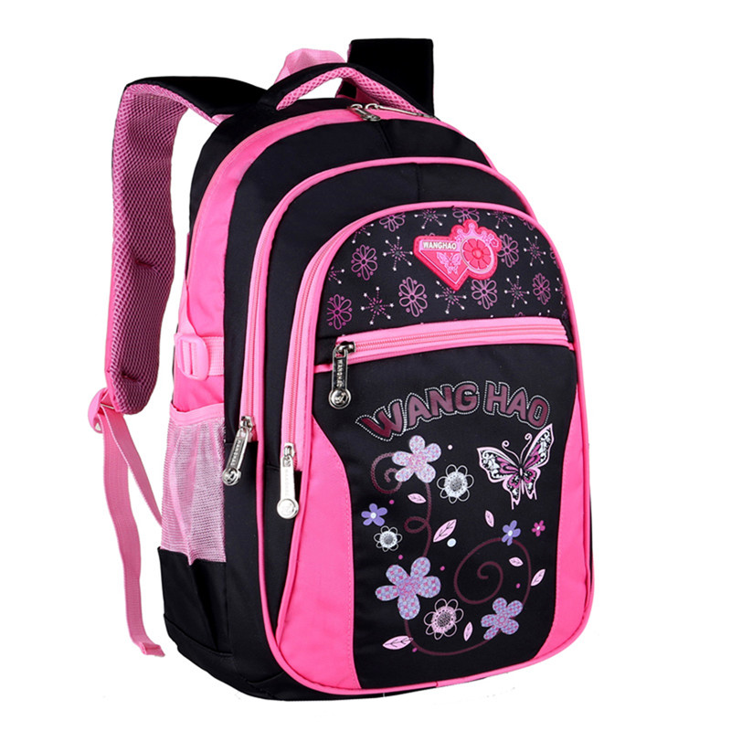 2018 Children School Bags for Girls Butterfly Printing Backpack Waterproof Kids Shoulder Book Bag pack mochila 2 sizes