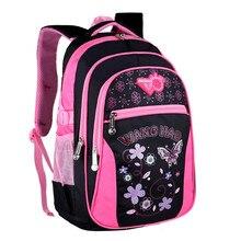 2016 модные Водонепроницаемый рюкзак женщины мода школьные сумки для девочек милые бабочки печать плеча mochila
