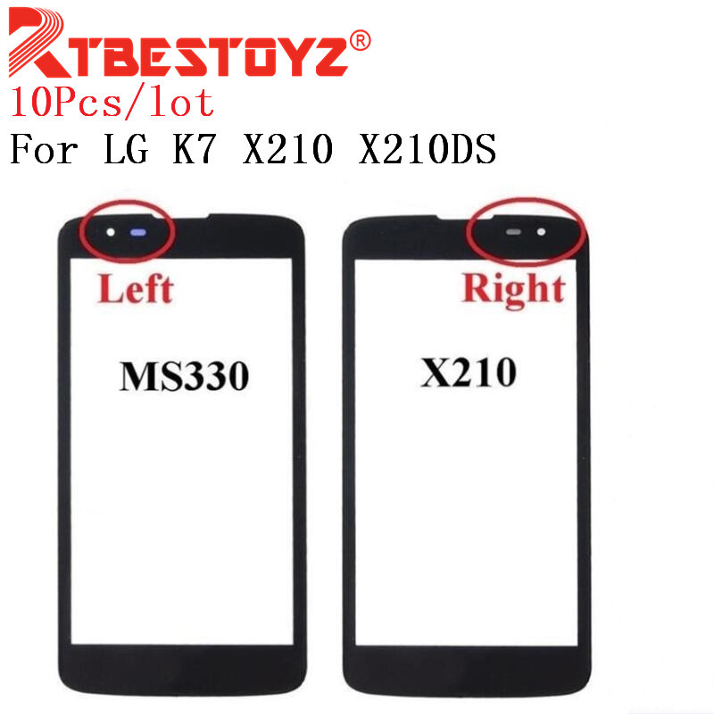 RTBESTOYZ 10pcs Front Screen Outer <font><b>Glass</b></font> Touch Outer Cover Panel LENS For <font><b>LG</b></font> <font><b>K7</b></font> X210 <font><b>X210DS</b></font> MS330 Tribute 5 LS675 Touch screen image