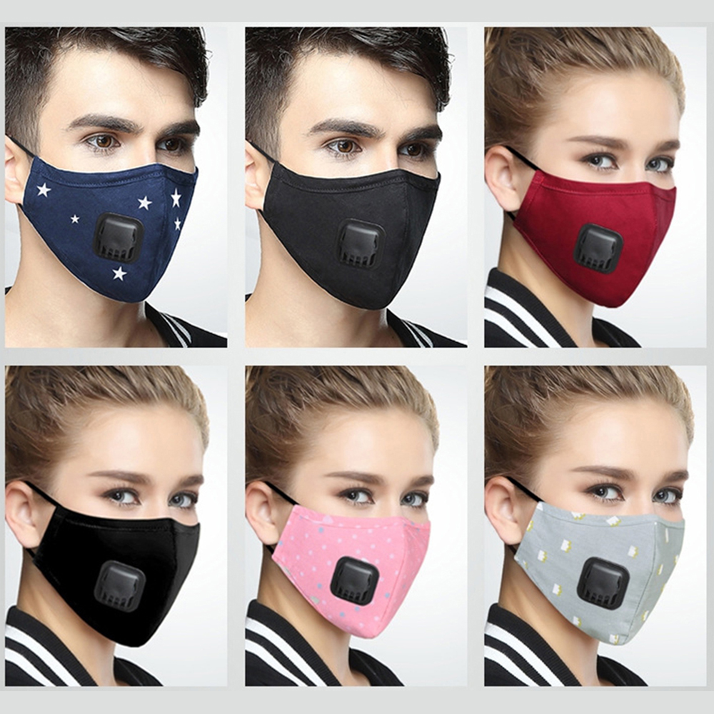 Coreano Anti PM2.5 máscara cara Anti polvo de máscara de la boca respirador máscara con filtro de carbono respirador máscara negra para el invierno corriendo