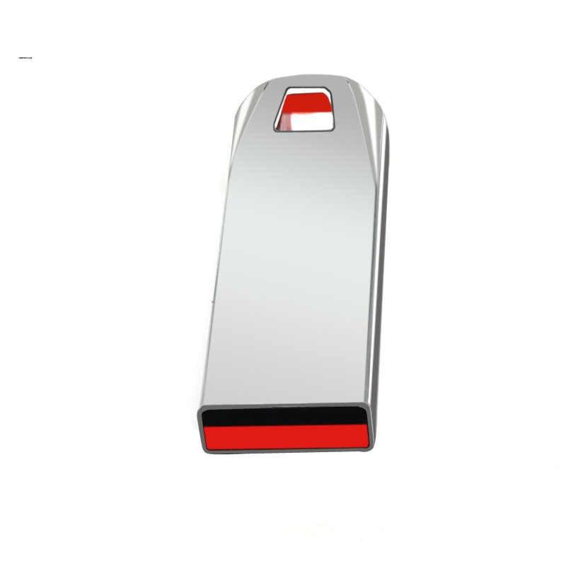Moda metalowe dyski USB 64GB 32GB Pen Drive 16GB 8GB pamięci USB 2.0 Stick Pendrives