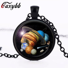 2015 New SOLAR SYSTEM PENDANT Astronomy Pendant Space Jewelry galaxy Necklace Planet Jewelry Multicolor Geek Gift cn575
