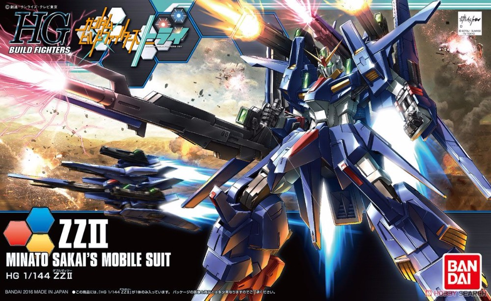 1PCS Bandai HG Build Fighters HGBF 045 1/144 TRY ZZ II Gundam Mobile Suit Assembly Model Kits Anime action figure Gunpla стоимость
