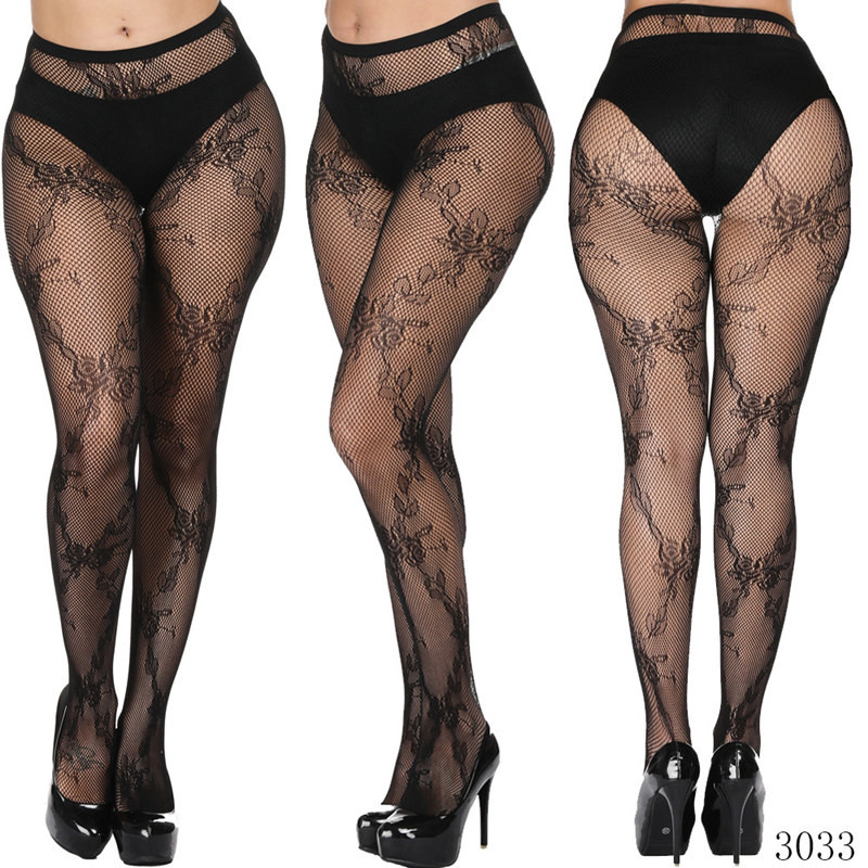 2Pairs Plus Size <font><b>Bodystocking</b></font> <font><b>Sexy</b></font> <font><b>Lingerie</b></font> Women Ladies Erotic <font><b>Lingerie</b></font> Sex Body Stockings Large Sizes Fishnet Women Pantyhose image