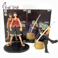 2 Pcs Set Cartoon One Piece Luffy Zoro Sanji Nami PVC Anime Action Figure Toys Kids