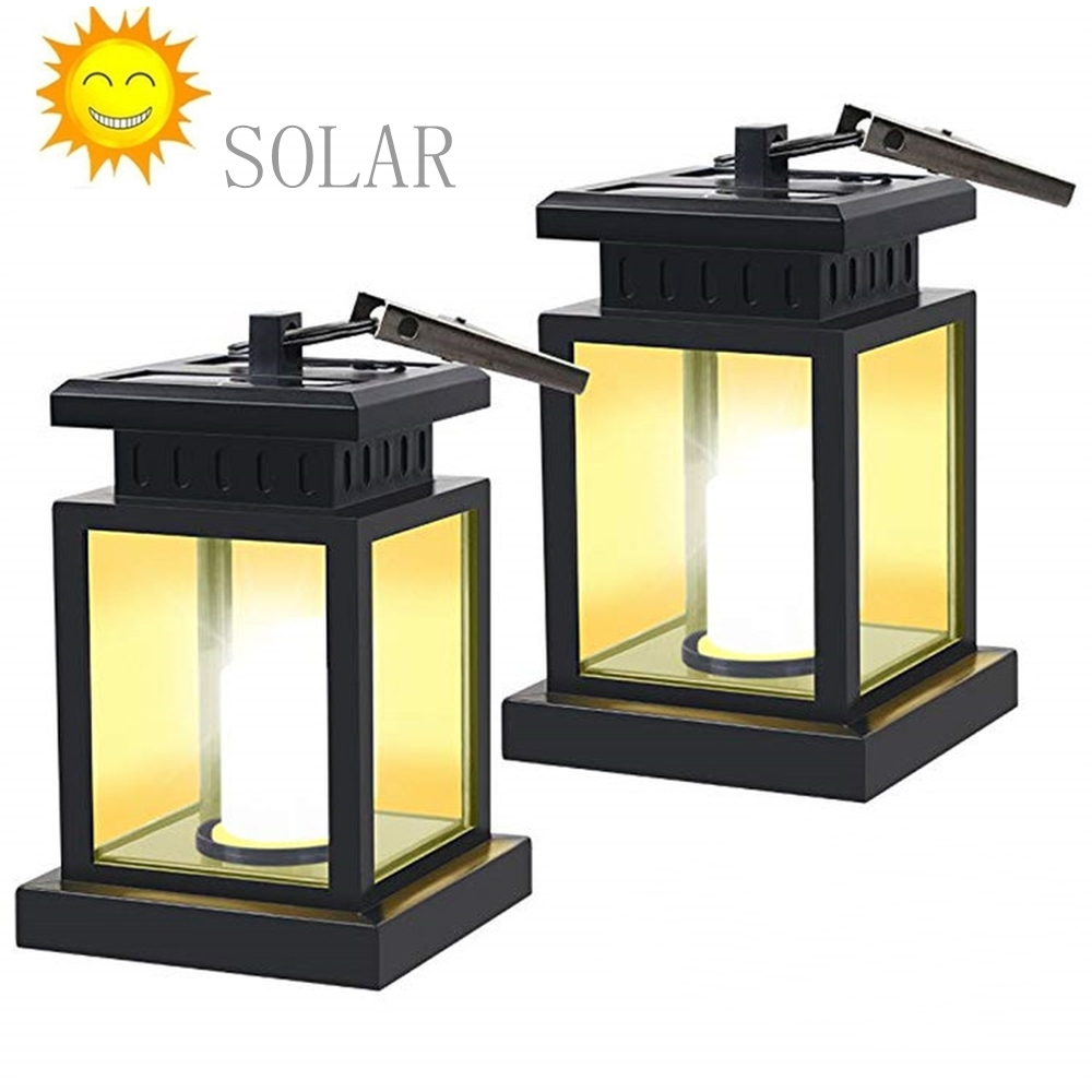 Solar Umbrella Lights -LED Hanging Solar Landscape Garden Light Outdoor Waterproof Wall Lamp Candle Flame Light For Patio,Lawn