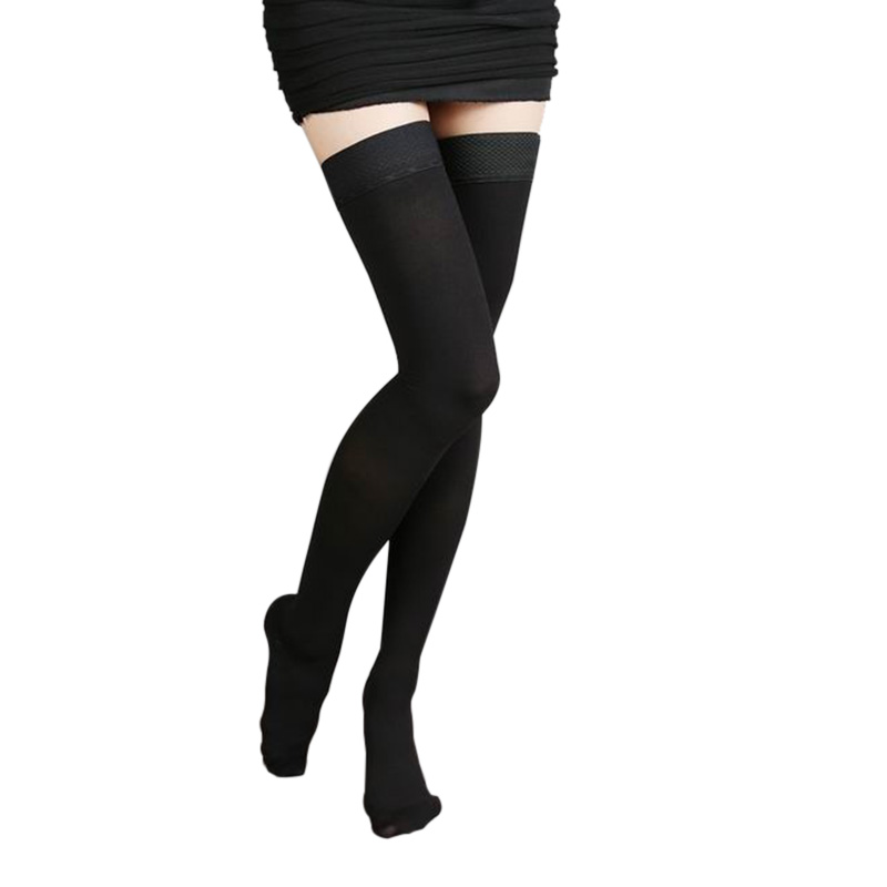 Varicose Veins Stockings Thigh High 25-30 MmHg Medical Compression Closed Toe NGD88