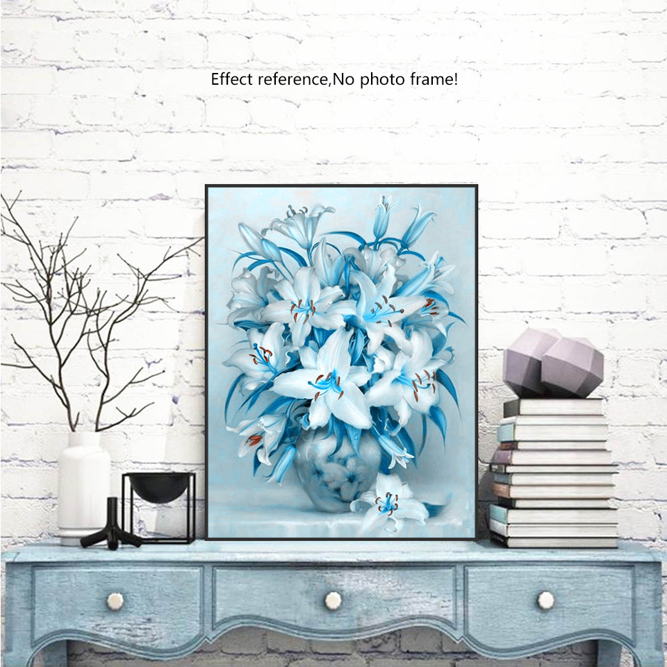 EverShine 5D Diamond Painting Full Round Drill Flower Pictures Of Rhinestones DIY Diamond Embroidery Flowers Beads Wallpaper in Diamond Painting Cross Stitch from Home Garden