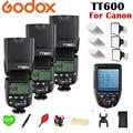 Godox TT600 TT600S 2,4G Беспроводной TL HSS 1/8000 s вспышки Speedlite + X1T-C 2,4G Беспроводной ttl триггера для Canon Камера