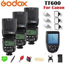 Godox TT600 TT600S 2.4G Wireless TL HSS 1/8000s Speedlite Flash + X1T-C 2.4G Wireless TTL