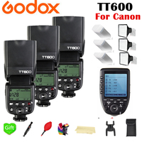 Godox TT600 TT600S 2.4G Wireless TL HSS 1/8000s Speedlite Flash + X1T C 2.4G Wireless TTL Trigger for Canon Camera