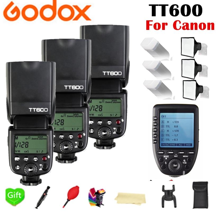 Godox tt600 tt600s 2.4g sem fio tl hss 1/8000s speedlite flash + X1T-C 2.4g sem fio ttl gatilho para câmera canon