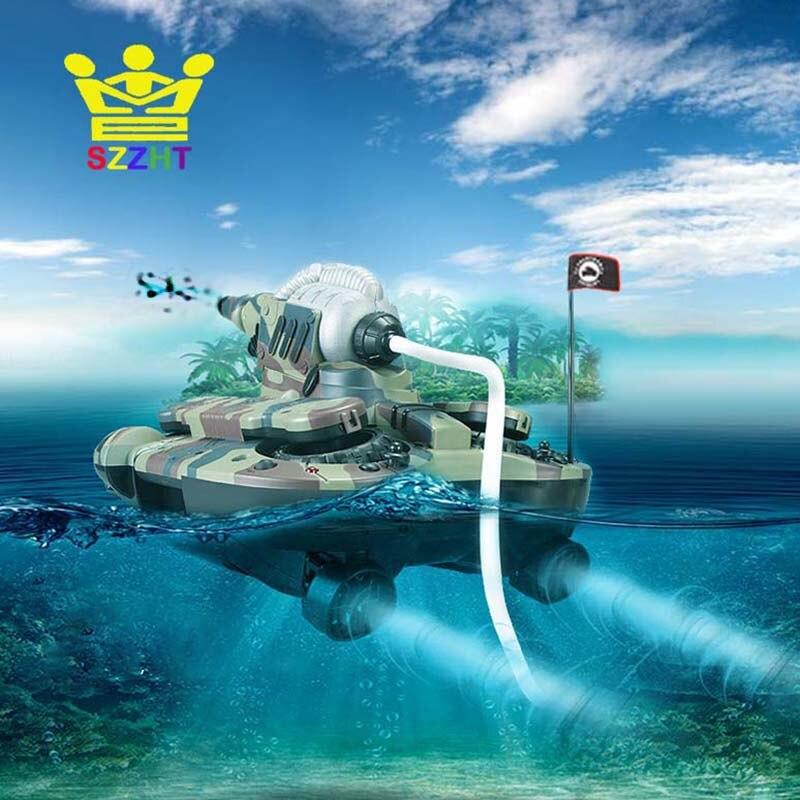 Armée amphibie RC réservoir jouets Air doux BB balle pulvérisation d'eau tirer cible électronique télécommande véhicule pour enfants cadeaux
