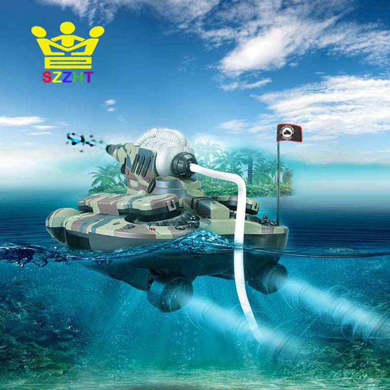 Army Amphibious RC Tank Toys Air Soft BB Bullet Water Spraying Shoot Target Electronic Remote Control Vehicle for Children Gifts