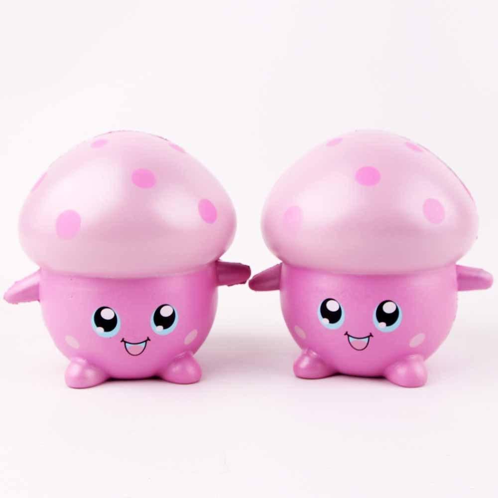 Новый мягкими мультфильм грибы мягкие разминание ПУ медленно упругое Vent игрушки произв ...