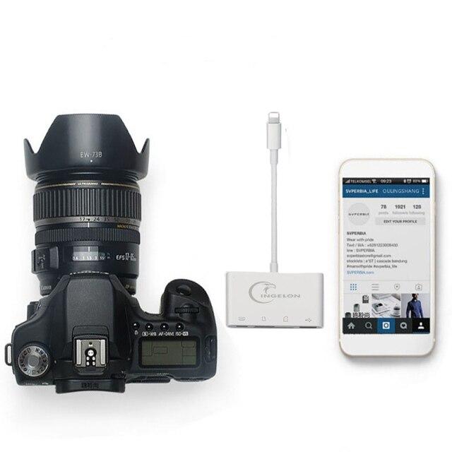 Czytnik kart SD czytnik kart Micro SD OTG inteligentny aparat fotograficzny Adapter do iphonea iPod karty pamięci Apple Adapter SD multimemory