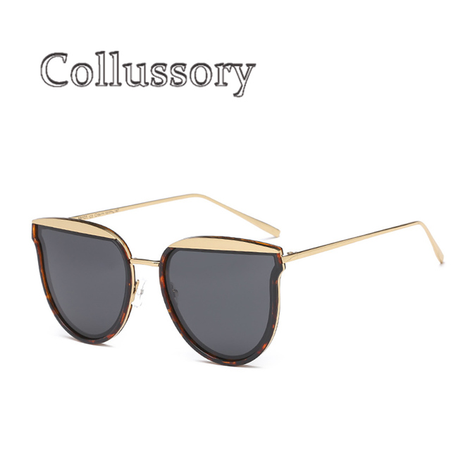 26fa5346b2 2019 Mulheres Espelho Moda Marca Designer Polarized óculos de Sol Olho de  Gato Do Metal Do