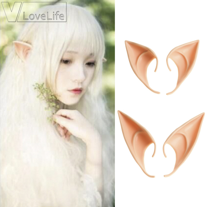 Latex Prosthetic Fairy Pixie Elf Ear Halloween Costume Cosplay Stage Props OU