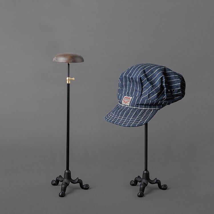 Сделанный вручную из массива дерева Поднос Винтажный старый держатель шляпы промышленный стиль металлическая посадка напольный Регулируе...