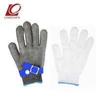 Устойчивые к порезам перчатки с проволокой из нержавеющей стали, безопасные, с резким ножом, рабочие перчатки, анти-резка, рукавицы, металли...