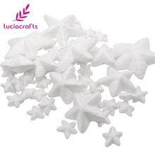 Lucia Artesanato 40 pçs lote Misto Tamanho natural branco estrelas de isopor  DIY Materiais Acessórios de Festa de Natal 18030025 8dd9a210cbd72