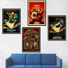 Fantasy horror movie GREMLINS poster Retro style Decorative kraft paper print DIY Wall art Painting Stickers Home Posters(China)
