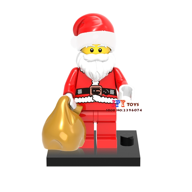 1pcs star wars superhero Christmas Santa Claus building blocks model bricks toys for children classic hobbies